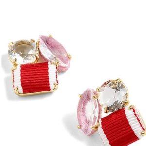 J. Crew 3 stone earrings